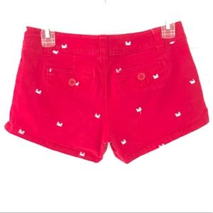 Pants - Red Shorts with White Crabs Size 3